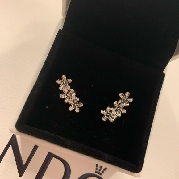 Pandora Daisy Cluster Earrings